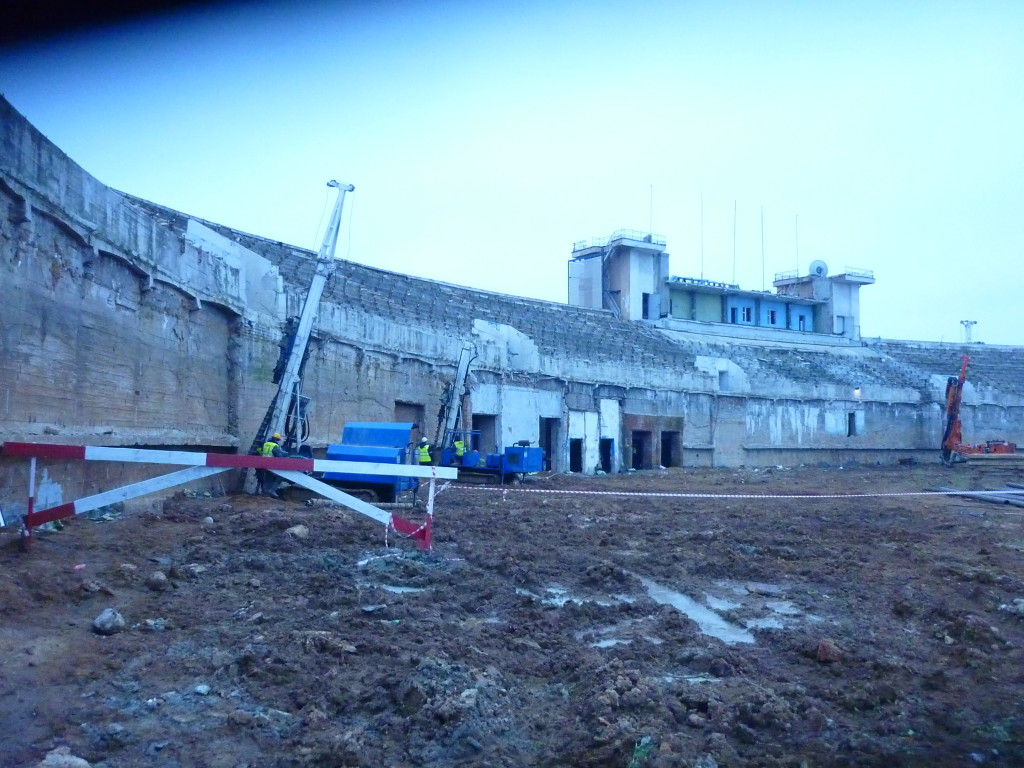 Усиление фундаментов - стадион Динамо
